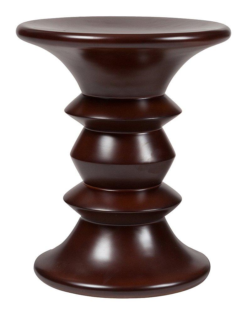 Табурет Stool Model A DG-HOME Этот табурет сделан из массива благородного  дерева – дуба, причем оригинальная фактура  дерева была сохранена, и поэтому табурет  не нуждается ни в каком дополнительном  декоре. Он имеет интересную форму. Основание  и само сидение выполнены в форме круга,  а ножка имеет фигурную симметричную резьбу.