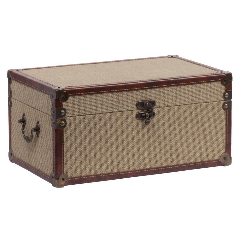 Декоративный чемодан для хранения Malkinson Коробки и кейсы для хранения<br>Декоративный чемодан Malkinson Piccolo непременно <br>украсит собой ваш дом, оформленный в стиле <br>Прованс и поможет сохранить ценные вещи <br>в целости. Аксессуар является достаточно <br>вместительным, поэтому вы можете положить <br>в него как предметы одежды, так и милые безделушки. <br>Очаровательный дизайн чемодана привнесет <br>в комнату изысканности, оригинальности <br>и шарма. Вы можете также приобрести дополнительно <br>предмет из той же коллекции, чтобы составить <br>набор.<br><br>Цвет: Песочный, коричневый<br>Материал: МДФ, Ткань<br>Вес кг: 0,9<br>Длина см: 34,5<br>Ширина см: 12<br>Высота см: 12,5