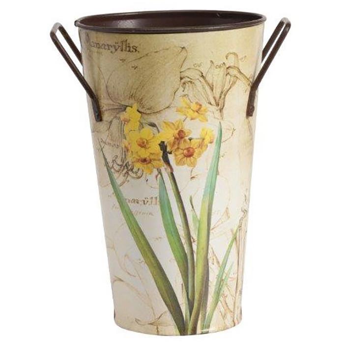 Декоративное кашпо Bronto PiccoloДомашний сад<br>Симпатичное декоративное кашпо Bronto Piccolo <br>станет прекрасным украшением вашего домашнего <br>сада, наполнит его яркими красками и роскошью. <br>Изготовленное из металла и имеющее очаровательный <br>рисунок в виде цветка на нежном бежевом <br>фоне, такой аксессуар будет уместно смотреться <br>как в современном, так и в классическом <br>интерьере. Кашпо можно приобрести отдельно <br>или с изделиями из той же коллекции.<br><br>Цвет: Бежевый, Жёлтый, Зелёный<br>Материал: Металл<br>Вес кг: 0,3<br>Длина см: 12<br>Ширина см: 12<br>Высота см: 24