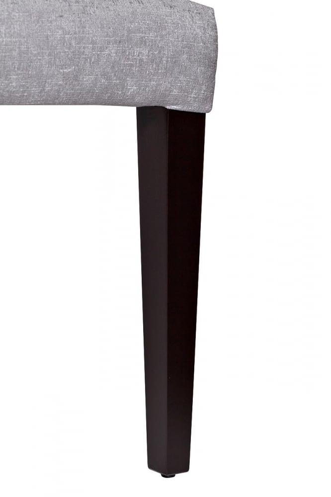 Стул с кольцом, серый велюр 47х52х98 см