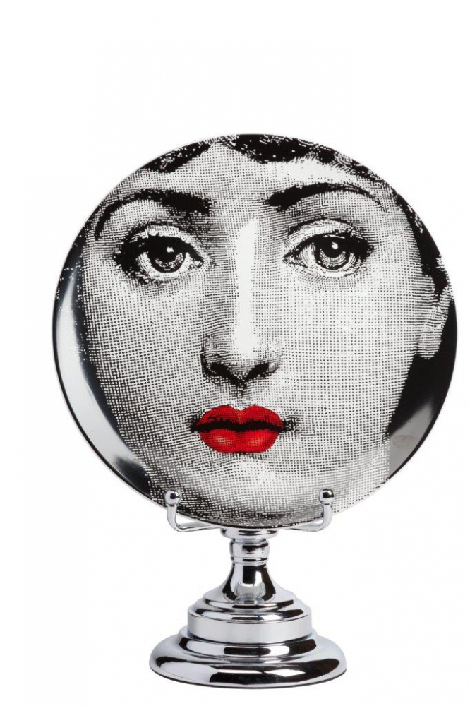 Фото Декоративная тарелка на подставке Пьеро  Форназетти Dolore Rouge. Купить с доставкой
