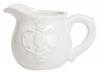 Молочник LadyМолочники<br>Элегантный керамический молочник Lady с <br>рельефным изображением изящной головы <br>царственной особы, с символической короной <br>над головой, выполнен в белом цвете. Молочник <br>весьма удобной формы, рассчитан не только <br>для торжественных чаепитий дома, но и для <br>детских кафе.<br><br>Цвет: Белый<br>Материал: Грубая керамика<br>Вес кг: 0,2<br>Длина см: 13<br>Ширина см: 9<br>Высота см: 9