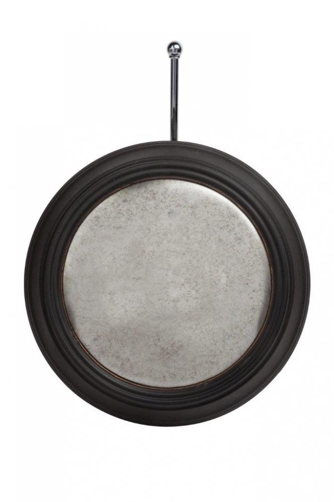 Зеркало KennedyЗеркала<br>Зеркало Kennedy вмонтировано в металлическую <br>оправу черно-коричневого цвета, крепится <br>на ремешке. Это круглое небольшое зеркало <br>впишется в любой стиль интерьера.<br><br>Цвет: Чёрный, Коричневый<br>Материал: Металл, Зеркало<br>Вес кг: 1<br>Длина см: 31,5<br>Ширина см: 7,62<br>Высота см: 31,5
