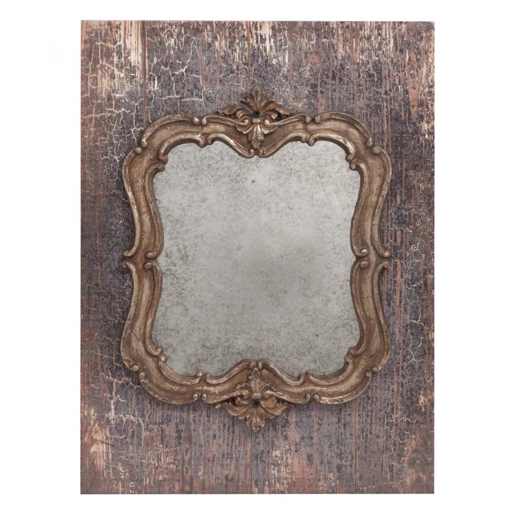 Зеркало Pontmercy FourЗеркала<br>Зеркало Pontmercy Four — изготовлено в виде панно, <br>украшено геральдической резьбой в бронзовом <br>цвете. Этот красивый элемент декора, подойдёт <br>для любого стиля интерьера.<br><br>Цвет: Коричневый, Бежевый<br>Материал: МДФ, Зеркало<br>Вес кг: 1,1<br>Длина см: 26<br>Ширина см: 1,5<br>Высота см: 35