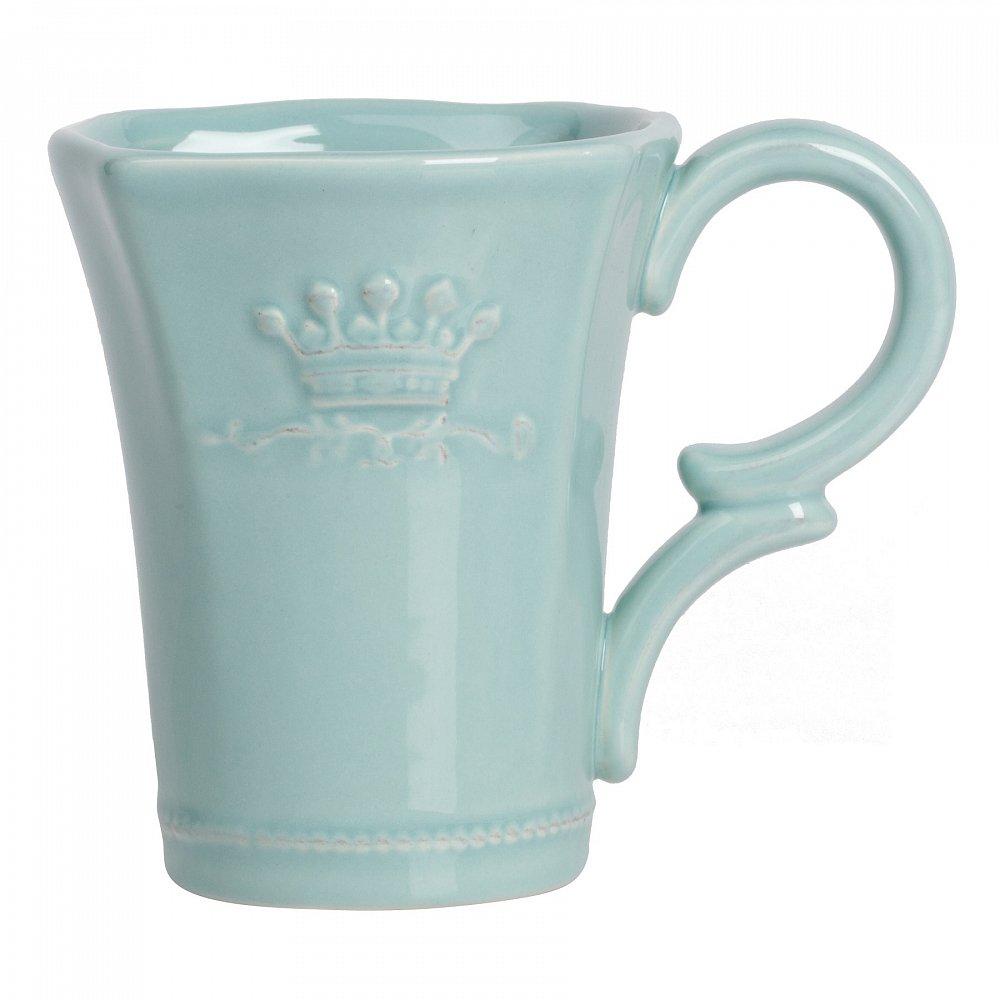 Кружка MonacoКружки<br>Кружка Monaco выполнена из керамики в бирюзовом <br>цвете. Особенностью декора кружки является <br>рельефный геральдический рисунок короны, <br>придающий изделию особую торжественность. <br>Отличный вариант для подарка!<br><br>Цвет: Бирюзовый<br>Материал: Керамика<br>Вес кг: 0,3<br>Длина см: 13<br>Ширина см: 9<br>Высота см: 10,6