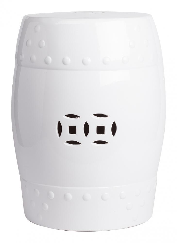 Керамический столик-табурет Garden Stool Белый