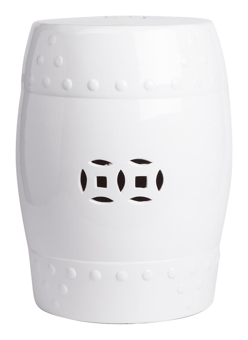 Купить Керамический столик-табурет Garden Stool Белый в интернет магазине дизайнерской мебели и аксессуаров для дома и дачи