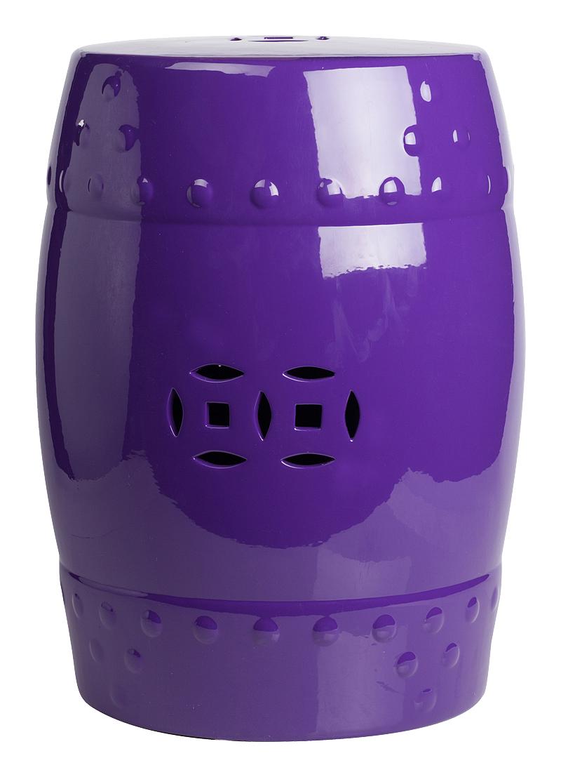 Купить Керамический столик-табурет Garden Stool Фиолетовый в интернет магазине дизайнерской мебели и аксессуаров для дома и дачи