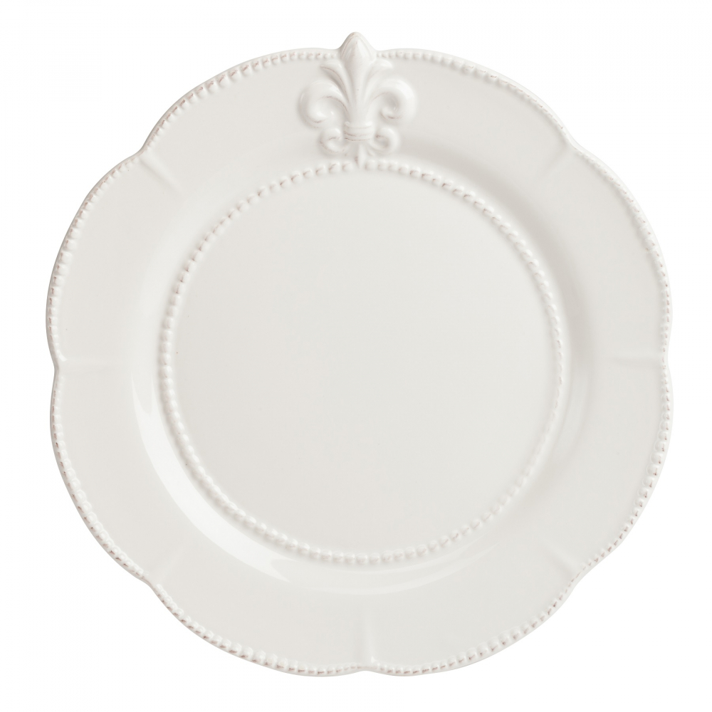 Большая тарелка Tess CreamТарелки<br>Изысканная тарелка Tess Cream кремового цвета, <br>изготовленная из грубой керамики и декорированная <br>изображением геральдической лилии. Края <br>тарелки выполнены в виде лепестков. Тарелка <br>станет украшением любого стола, сервированного <br>к приему гостей или важному торжеству. Тарелку <br>можно приобрести отдельно или в дополнение <br>к другим предметам коллекции в этом же цвете.<br><br>Цвет: Бежевый<br>Материал: Грубая керамика<br>Вес кг: 0,8<br>Длина см: 29,21<br>Ширина см: 29,21<br>Высота см: 1