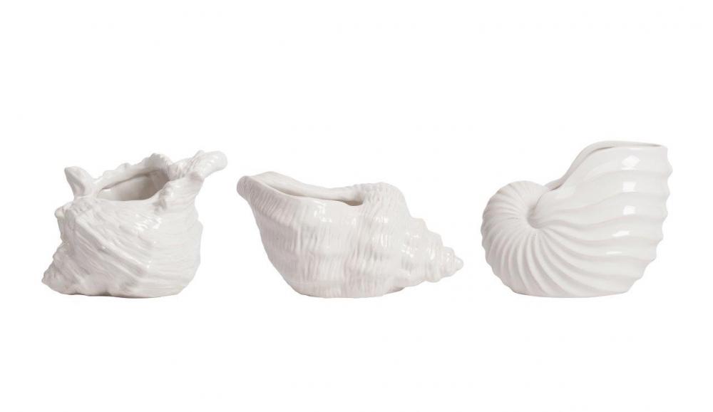 Набор декоративных ракушек MonpelierСтатуэтки<br>Ракушки всегда ассоциируются с морем и <br>веселым летом, поднимают настроение и ты <br>способен на многое… Поэтому в декоре вашего <br>интерьера, вероятней всего, найдется место <br>для размещения этих милых штучек.<br><br>Цвет: Белый<br>Материал: Керамика<br>Вес кг: 2,4<br>Длина см: 20,07<br>Ширина см: 16,76<br>Высота см: 16,51