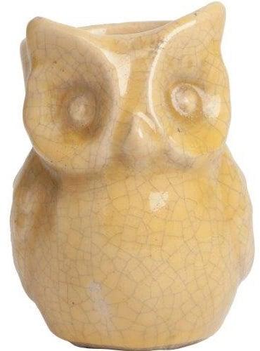 Фото Предмет декора статуэтка сова Vincenzo Yellow. Купить с доставкой
