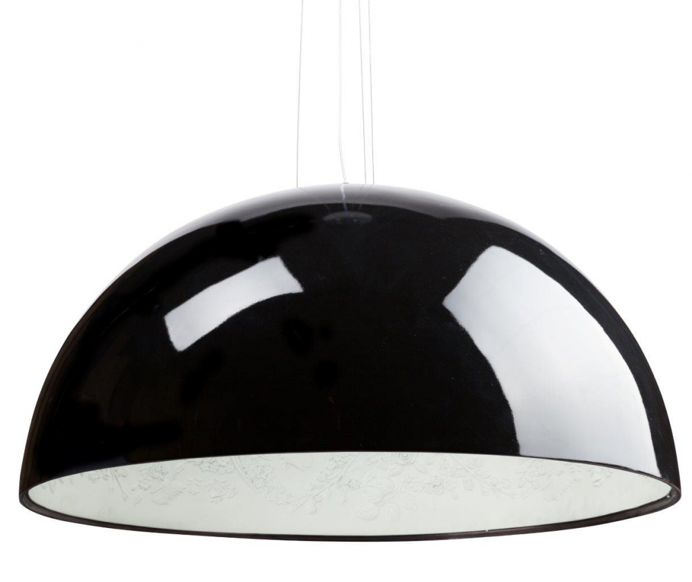 Подвесной светильник SkyGarden Flos D90 BlackПодвесные светильники<br>Оригинальная подвесная лампа SkyGarden D90 Black <br>— это уникальный в своем роде предмет декора, <br>который наполнит ваш дом роскошью, грациозностью <br>и элегантностью. С виду простой и гладкий <br>плафон из полимерной смолы украшен, однако, <br>очаровательной лепкой внутри, что делает <br>аксессуар уникальным. Лампа подарит помещению <br>мягкий непринужденный свет, а также уют <br>и комфорт. SkyGarden или Небесный сад — именно <br>так переводится название светильника — <br>обязательно будет радовать вас своим освещением <br>и эстетическим видом. Подарите себе кусочек <br>райского сада с подвесной лампой SKYGARDEN! <br>Длина провода 60 см.<br><br>Цвет: Чёрный<br>Материал: Полимерная смола, Гипс<br>Вес кг: 21<br>Длина см: 90<br>Ширина см: 90<br>Высота см: 48