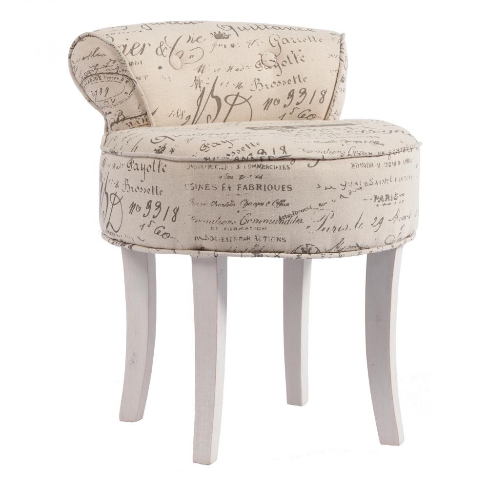 Стул Pierre Бежевый Лен DG-HOME Небольшой, но бесконечно милый стул Pierre  – это прекрасное приобретение для ценителей  роскоши и шика, изысканности и аристократичности.  Предмет мебели изготовлен из дерева и обит  льном – практичной в использовании тканью.  По всей поверхности сиденья имеются неброские  надписи, придающие особый шарм аксессуару.  Такой стул непременно украсит собой ваш  дом в стиле «прованс» и подарит вам незабываемые  минуты покоя.