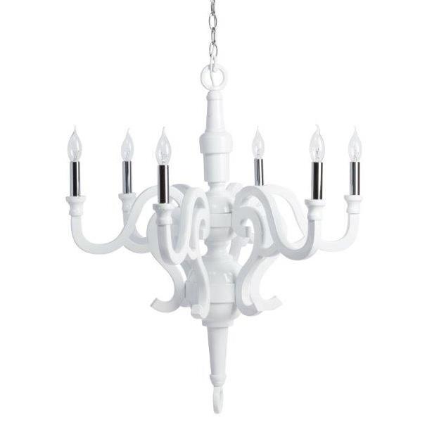 Люстра VisterosЛюстры<br>Грациозная люстра Visteros, сделанная из дерева, <br>превосходно впишется в любой интерьер, <br>будь то уютная спальня или роскошная гостиная. <br>Изысканный декор создается благодаря уникальному <br>дизайну, лампочкам в виде подсвечников <br>и приятному белому цвету предмета, который <br>гармонично будет сочетаться с общей картиной <br>помещения. Освещение от такой люстры не <br>будет навязчивым, а, наоборот, придаст помещению <br>уюта и некой мягкости.<br><br>Цвет: Белый<br>Материал: Дерево<br>Вес кг: 10<br>Длина см: 73<br>Ширина см: 73<br>Высота см: 55