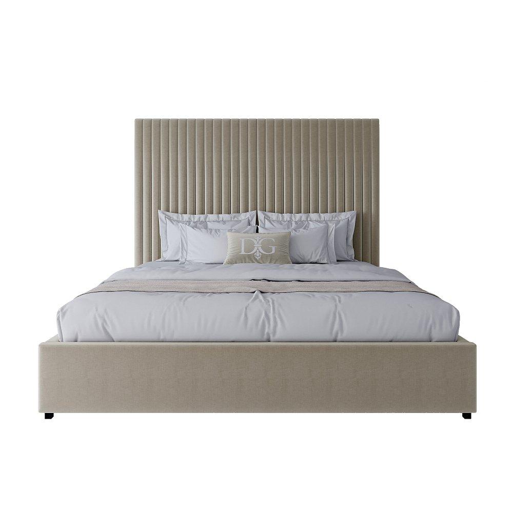 Кровать Mora 180х200 Велюр Бежево-розовый Р