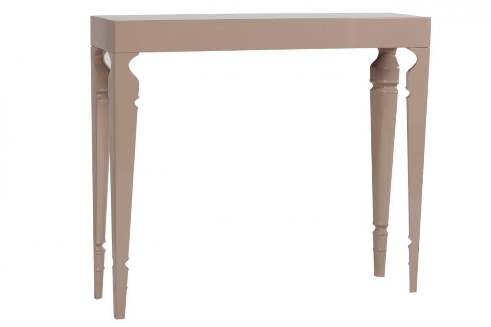 Туалетный стол Carrie Two Grey-Beige DG-HOME Туалетный столик — это вещь, которая пригодится  каждой женщине. Туалетный столик Carrie, выполненный  из дерева в серо-бежевом цвете, станет незаменимым  предметом мебели в вашем будуаре или в спальне.  На него можно поставить все, все, что необходимо  для создания красивого образа: косметику,  духи, шкатулки с украшениями, расчески,  заколки, повесить перед ним зеркало. Этот  столик гармонично сочетает в своей конструкции  строгие линии узкой прямоугольной столешницы  и вытянутые оригинальные ножки — они только  с внутренней стороны украшены резьбой и  покрыты лаком. Сделайте себе (или любимой  женщине) подарок, купите туалетный столик  Carrie — благодаря своей незамысловатости  столик безукоризненно впишется в современный  интерьер любой спальни.