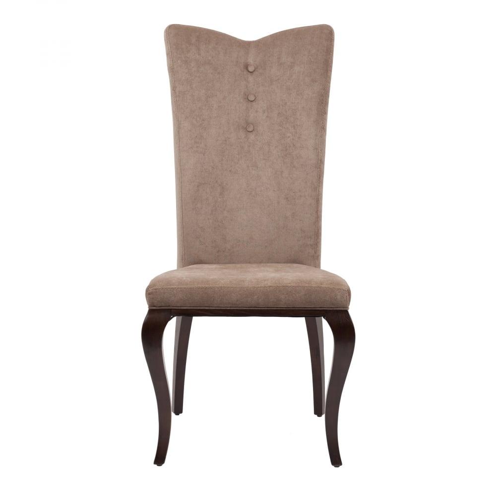 Стул Riviere DG-HOME Элегантный и строгий стул Riviere — это великолепное  решение для столовой или гостиной, где стоит  гостеприимный обеденный стол. Он также  отлично подойдет и к деловой обстановке  рабочего кабинета или офисного помещения.  Фигурные ножки стула — это воплощенное  изящество, благодаря которому изделие уместно  в любом интерьере. Оригинальная спинка  и сиденье обиты мягкой плотной тканью светло-коричневого  цвета. Для изготовления стула использовалось  дерево ясеня, которое отличается добротностью  и долговечностью. Современный мягкий наполнитель  обеспечивает комфортное сидение на стуле  продолжительное время. Сочетание темных  и светлых оттенков коричневого цвета позволяет  изделию прекрасно гармонировать со всеми  элементами обстановки.