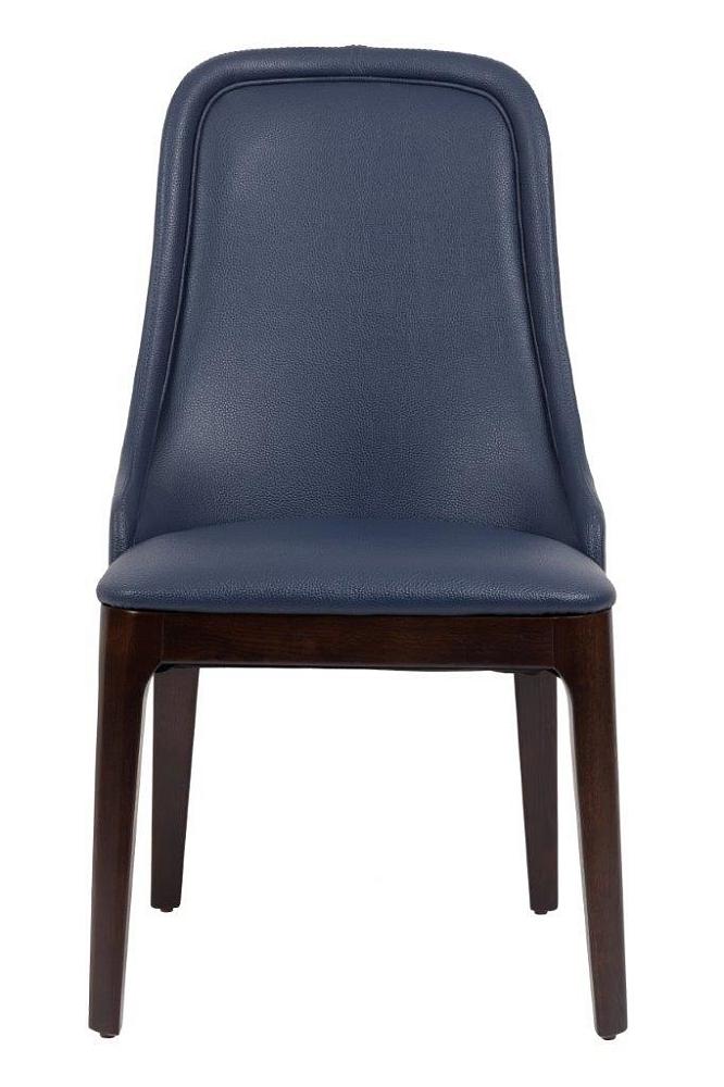 Стул Arrondi DG-HOME Любители необычных дизайнерских решений  оценят стул Arrondi от Томаса Лавина (Thomas Lavin),  который выполнен в необычном сочетании  цвета. Этот стул будет хорош в столовых  и гостиных, в строгой деловой обстановке  офиса или домашнего кабинета. Цветовое  сочетание располагает к доверию и, вместе  с тем, помогает настроиться на деловой лад.  Прямые ножки окрашены в красивый шоколадный  цвет, а спинка и сиденье стула обиты экокожей  глубокого синего цвета. Благодаря конструкции  спинки, повторяющей очертания спины, обеспечивается  комфорт, создается чувство защищенности  и уверенности. Каркас стула изготовлен  и древесины ясеня, являющимся долговечным  и добротным материалом.