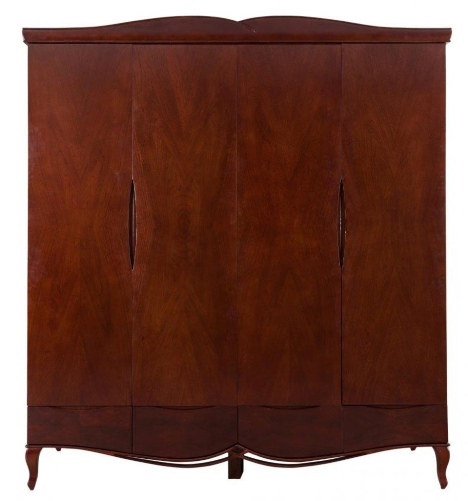 Шкаф Richard DG-HOME Красивый и вместительный шкаф Richard станет  ключевым предметом мебели в гардеробной  или спальне, также он будет уместен в просторной  прихожей. Шкаф имеет два больших отделения,  куда можно повесить одежду, а также найдется  место и для обуви, и для аксессуаров. Шкаф  выполнен из натурального дерева — бука,  причем на дверцах хорошо просматривается  рисунок древесины. Сверху и снизу шкаф украшен  резными изогнутыми элементами. Модель имеет  небольшие фигурные ножки.