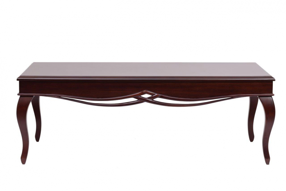 Кофейный столик Henri DG-HOME Кофейный столик Henri выглядит настолько  привлекательно, что сделать паузу и выпить  чашечку ароматного кофе или чая захочется  чаще! Кофейный столик выполнен в благородном  и достаточно нейтральном коричневом цвете,  в паре к нему можно подобрать комод из той  же дизайнерской линейки. Стол имеет глянцевую  поверхность, большую прямоугольную столешницу,  фигурные ножки, а также декор внизу под  столешницей, который добавляет столику  элегантности.