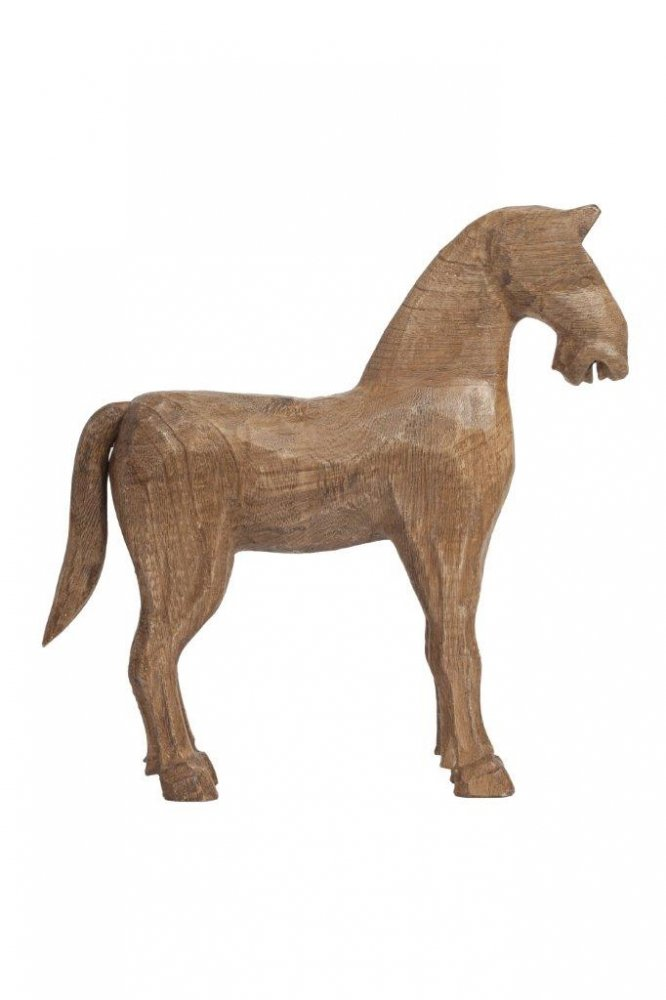 Предмет декора статуэтка лошадь Knight DG-HOME Маленькая деревянная лошадка сделана из  дерева и исполнена в бежевом цвете. Изображение  этого умного животного будет уместно в  любом доме, отлично подойдёт в качестве  украшения интерьера и оригинального подарка.