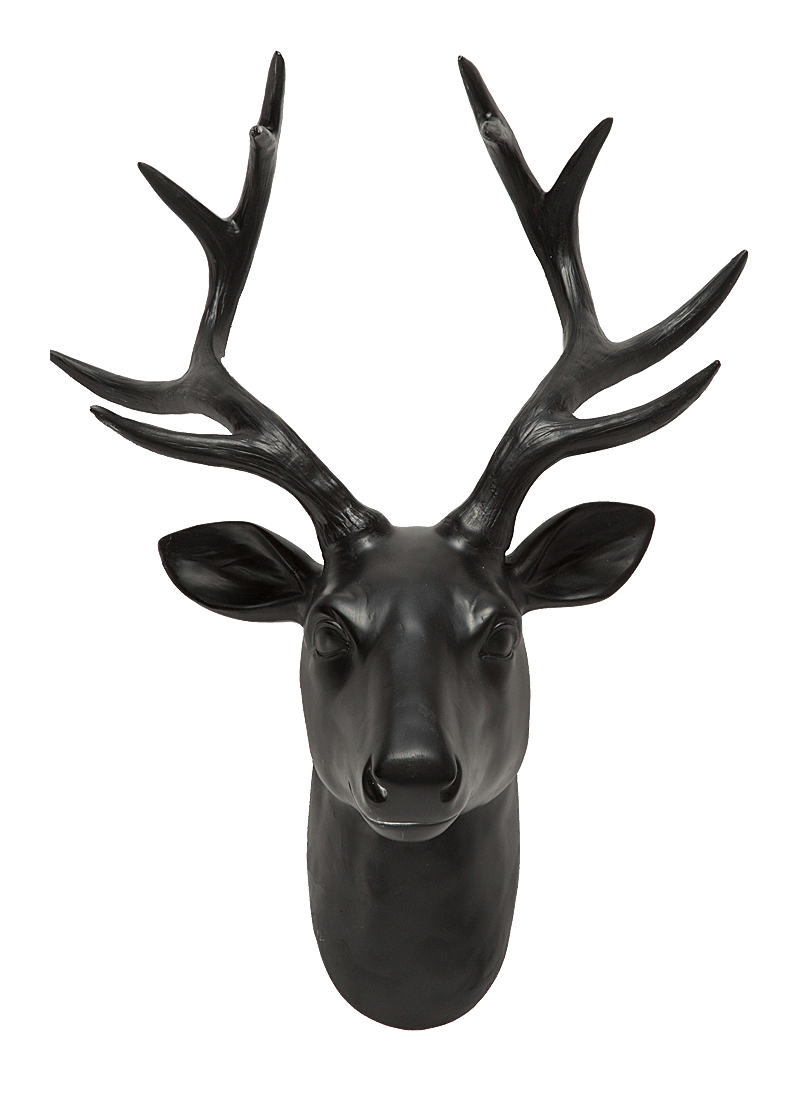 Купить Декоративная голова оленя Alonso Black в интернет магазине дизайнерской мебели и аксессуаров для дома и дачи