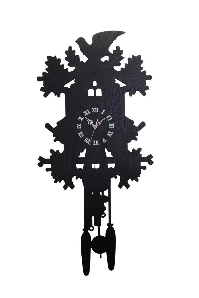 Купить Настенные часы с маятником Domestic Puzzle Black II в интернет магазине дизайнерской мебели и аксессуаров для дома и дачи