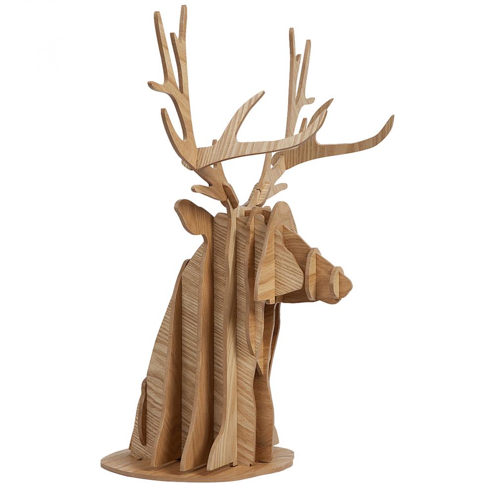 Декоративный бюст оленя PaulДекоративные головы<br>Декоративная голова оленя Paul из дерева <br>в бежево-коричневомом цвете с текстурой <br>придаст особое очарование вашему интерьеру. <br>Подойдёт для современного стиля при оформлении <br>помещения. Отличительной особенностью <br>является техника изготовления данного <br>декора. Удачное сочетание материала, цвета <br>и стиля достойно украсит ваше помещение! <br>Порадуйте друзей и близких прекрасным подарком!<br><br>Цвет: Бежевый, Коричневый<br>Материал: МДФ<br>Вес кг: 1,6<br>Длина см: 45<br>Ширина см: 55<br>Высота см: 32