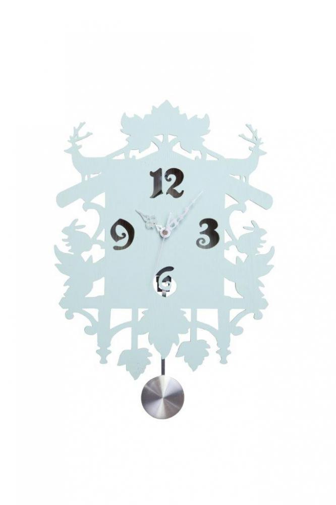 Фото Настенные часы с маятником Puzzle Blue. Купить с доставкой