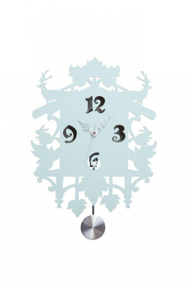 Настенные часы с маятником Puzzle Blue