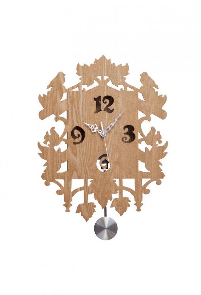 Настенные часы с маятником Puzzle Sand DG-HOME Настенные часы с маятником в деревянном  корпусе с сохраненной текстурой дерева  (ель) подойдут для любого стиля интерьера.  На фасаде часов просматриваются резные  фигурки животных, циферблат обозначен четырьмя  чёрными цифрами. Рекомендуем приобрести  эту вещь в качестве подарка.