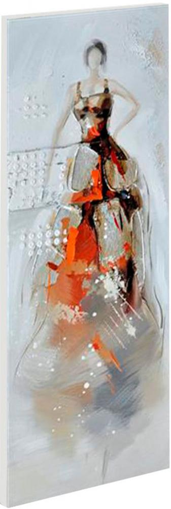 Картина маслом  Девушка в красном