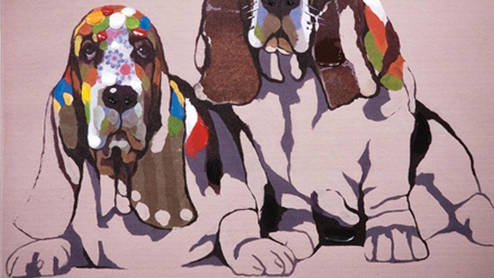 Картина маслом  Бассет хаунд