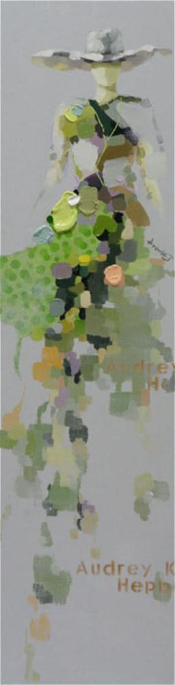 Картина маслом  Девушка в шляпе-3