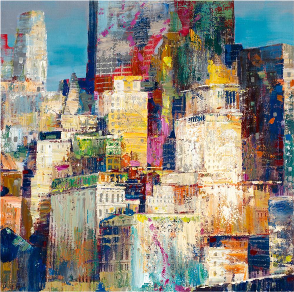 Картина маслом  Мегаполис