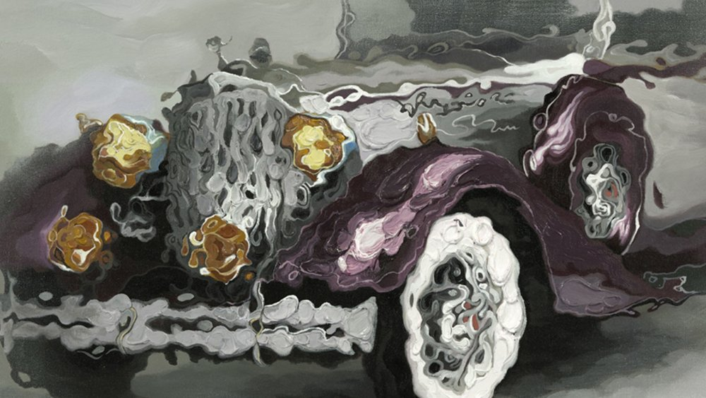 Картина маслом   Автомобиль