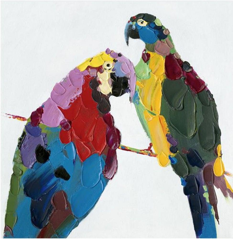 Картина маслом  Доминиканские Попугаи