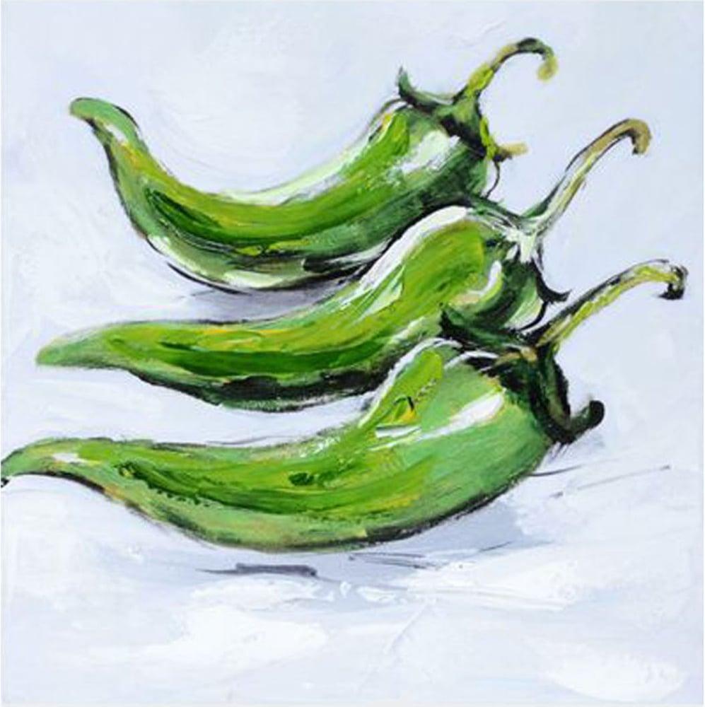 Картина маслом  Зеленый перец