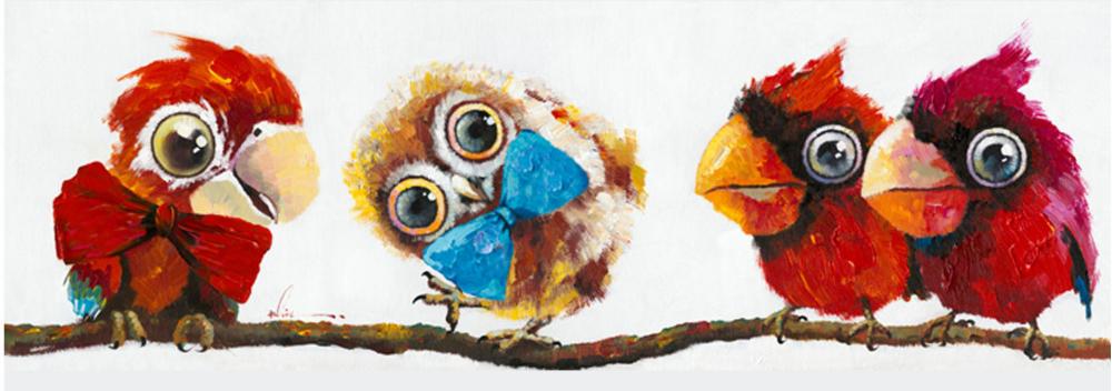 Картина маслом  Попугаи