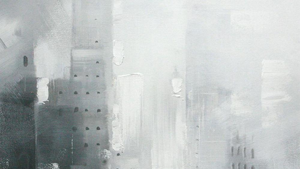 Картина маслом  Поцелуй под зонтом-2