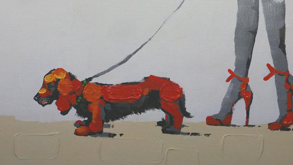 Картина маслом  Прогулка-2