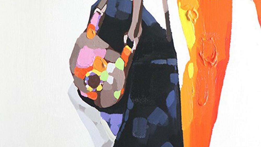 Картина маслом  Сумочка