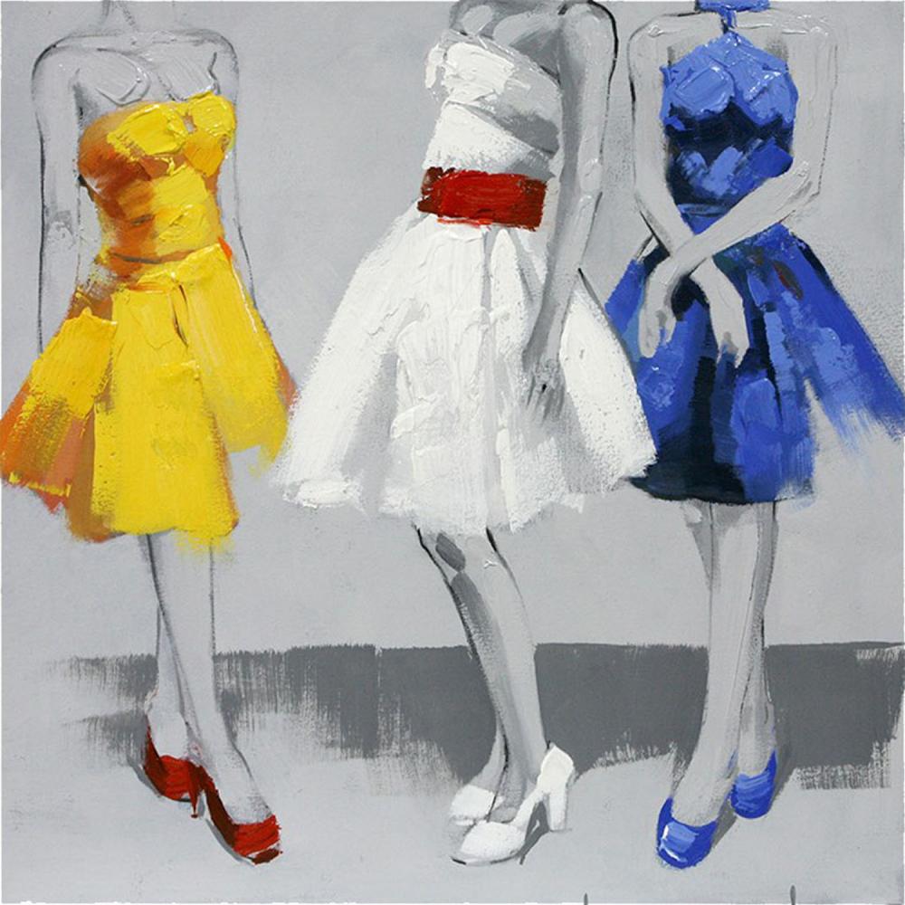 Картина маслом  Три дамы
