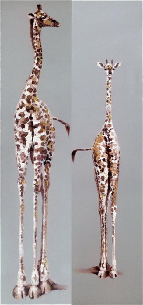 Картина маслом  Два жирафа