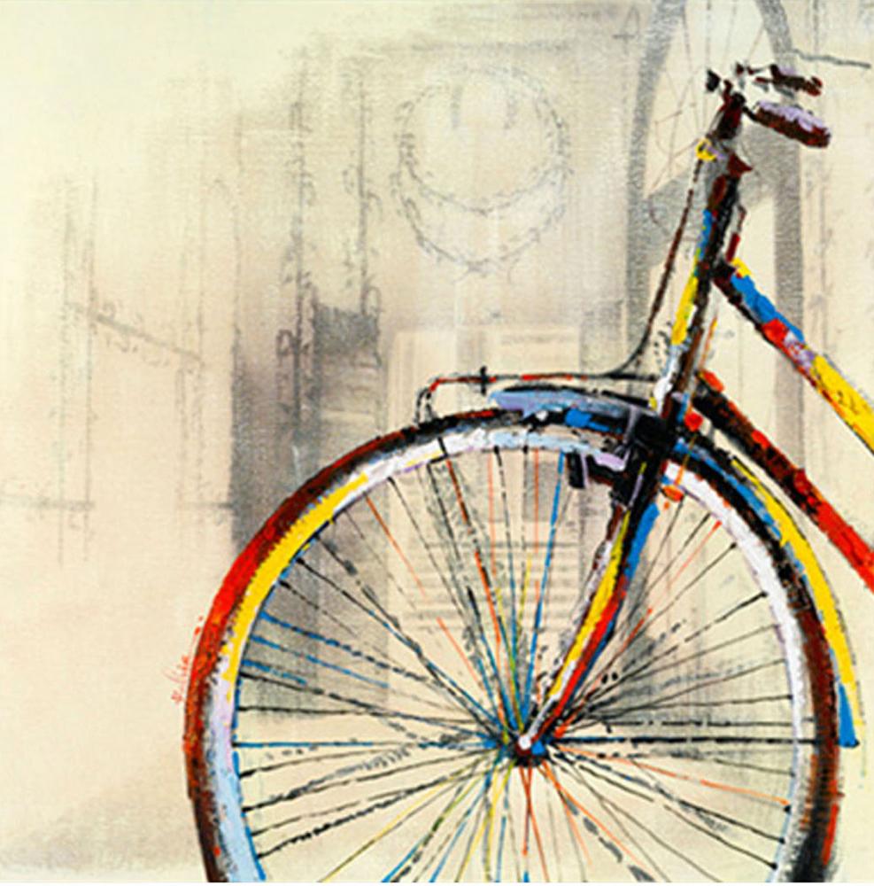 Картина маслом  Велосипед - 2