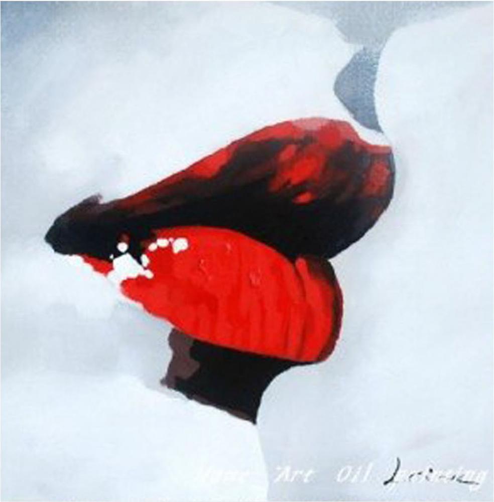 Картина маслом  Губы - 2