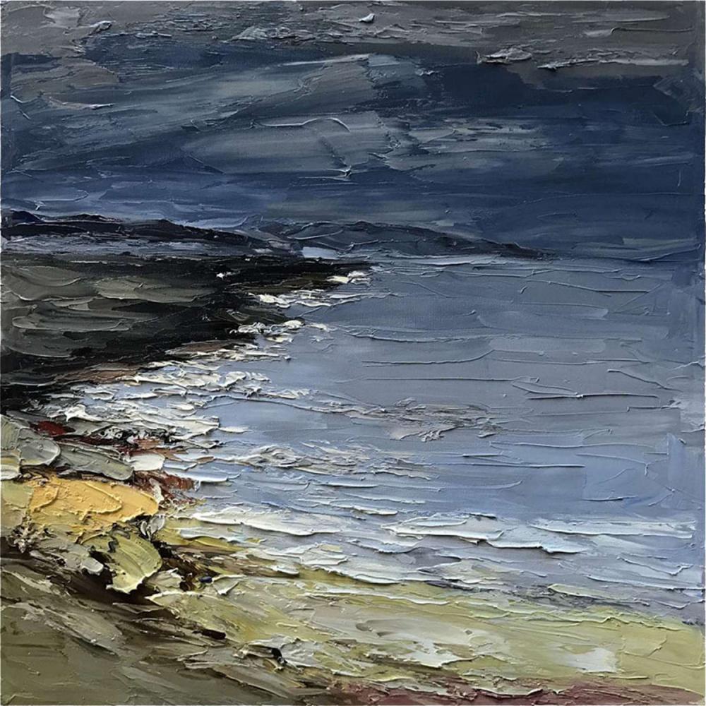 Картина маслом  Ветреная погода