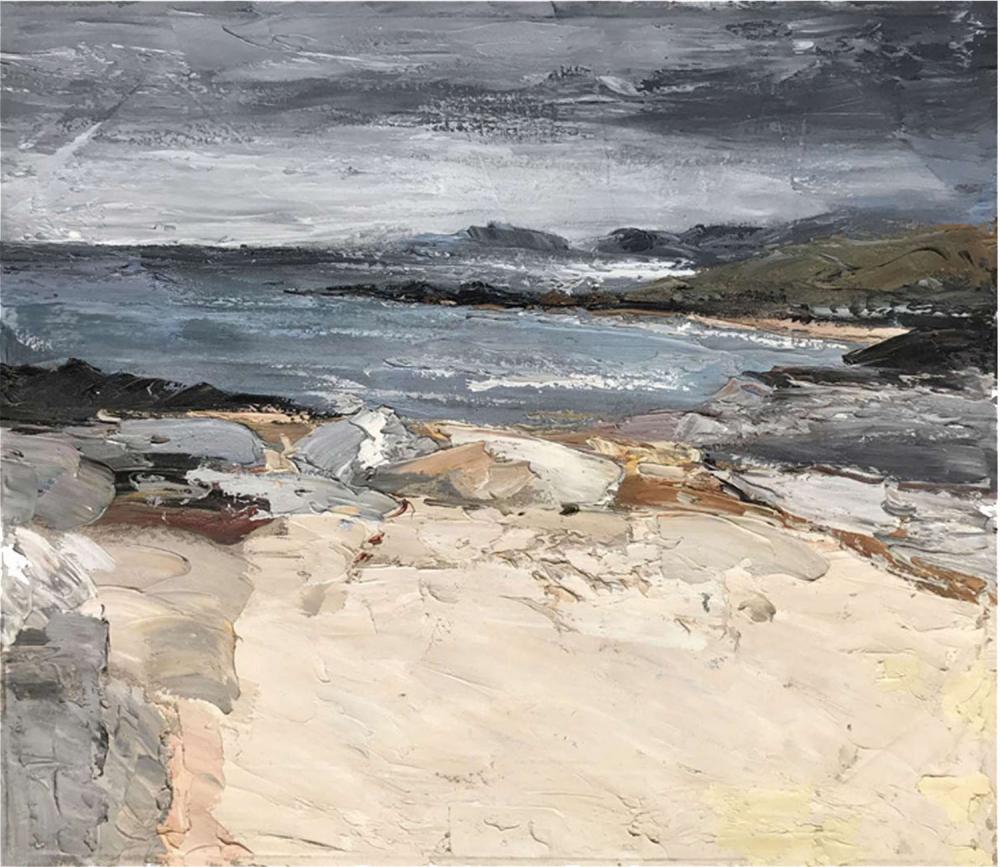Картина маслом  Холм на море