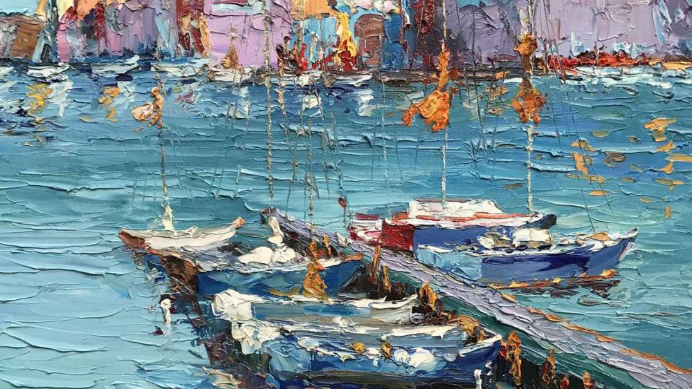 Картина маслом  Венеция