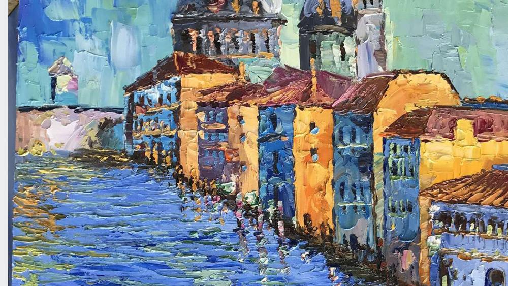 Картина маслом  Венеция - 2